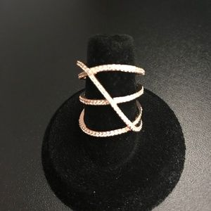 Sterling Silver Ring - gold Clad/plated